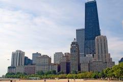 Horizon van Chicago Van de binnenstad stock afbeeldingen