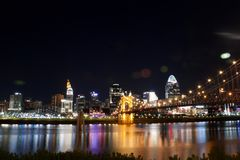 Horizon van Cincinnati Ohio stock afbeeldingen