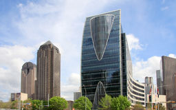 Horizon van Dallas van de binnenstad stock foto's