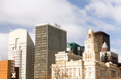 Horizon van de gebouwenarchitecture de Downtown Des Moines Iowa Stad stock foto's