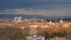 Horizon van de het centrumstad van Rome de historische stock footage