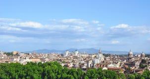 Horizon van de het centrumstad van Rome de historische Royalty-vrije Stock Fotografie