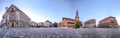 Horizon van de oude stad van Riga Stock Fotografie
