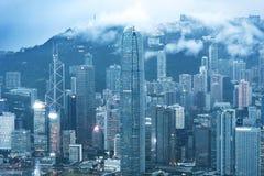 Horizon van de Stad van Hongkong Stock Afbeeldingen