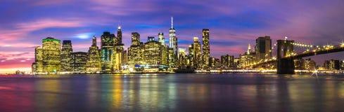 Horizon van de Stad van New York Royalty-vrije Stock Foto's