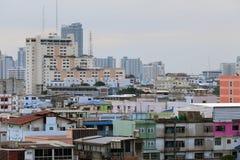 Horizon van de Stad van Bangkok, Thailand royalty-vrije stock afbeeldingen