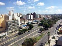Horizon van de stad van Campinas Stock Fotografie