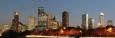 Horizon van de Stad van Houston, Texas Royalty-vrije Stock Foto's