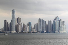 Horizon van de Stad van Panama Royalty-vrije Stock Foto's