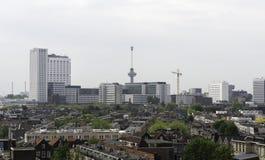 Horizon van de stad van Rotterdam in Holland Royalty-vrije Stock Afbeelding