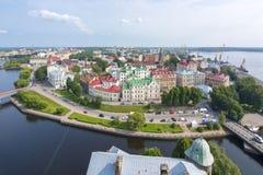 Horizon van de Vyborg de oude stad, Rusland royalty-vrije stock foto's
