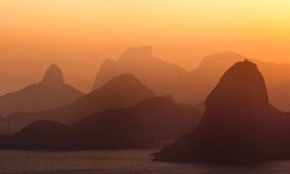 Horizon van de Zonsondergang van Skat van het Rio de Janeiro Royalty-vrije Stock Foto's