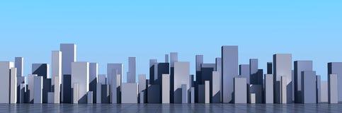 Horizon van een 3d stad vector illustratie