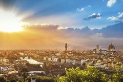 Horizon van Florence stock foto