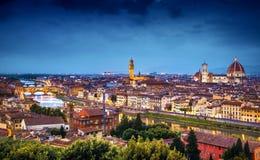 Horizon van Florence royalty-vrije stock afbeelding