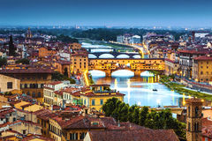 Horizon van Florence royalty-vrije stock afbeeldingen