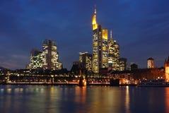 Horizon van Frankfurt royalty-vrije stock fotografie