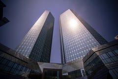 Horizon van Frankfurt Royalty-vrije Stock Foto's