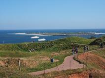 Horizon van Helgoland Stock Fotografie