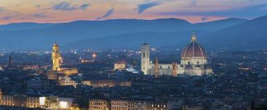 Horizon van Historische stad Florence, Toscanië, Italië stock foto's
