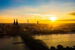 Horizon van Keulen Stock Fotografie