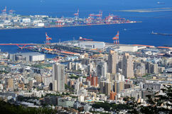 Horizon van Kobe, Japan royalty-vrije stock afbeelding