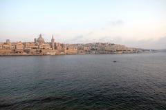 Horizon van La Valletta, hoofdstad van Malta Royalty-vrije Stock Foto's