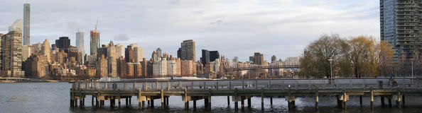 Horizon van Manhattan van Long Island-Stad Stock Foto