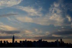 Horizon van New York Stock Afbeeldingen