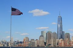 Horizon van New York Royalty-vrije Stock Afbeeldingen
