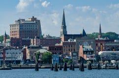 Horizon van Nieuw Londen, Connecticut stock afbeeldingen
