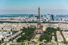 Horizon van Parijs vanaf de bovenkant van de Montparnasse-toren Stock Foto's