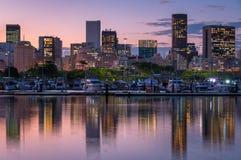 Horizon van Rio de Janeiro City Downtown door Schemer royalty-vrije stock foto's