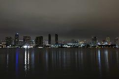 Horizon van San Diego, Californië bij nacht royalty-vrije stock afbeelding