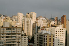Horizon van Sao Paulo, Brazilië Royalty-vrije Stock Foto