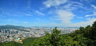 Horizon van Seoel Stock Foto's