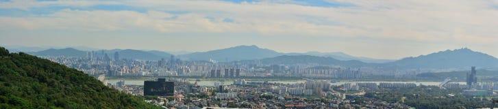 Horizon van Seoel Royalty-vrije Stock Foto