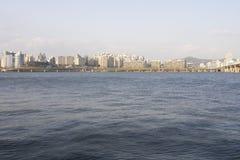 Horizon van Seoel, Zuid-Korea Royalty-vrije Stock Foto's