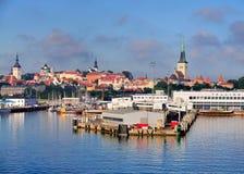 Horizon van Tallinn stock afbeeldingen