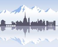 Horizon van Turijn ` s voorbij Stock Afbeelding