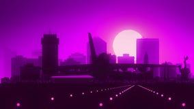 Horizon Violet Landing de Wichita le Kansas Etats-Unis Amérique illustration stock