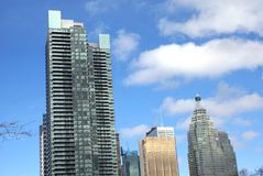 Horizon, wolkenkrabbers, Financieel District, Van de binnenstad, Toronto, Ontario, Canada Stock Foto