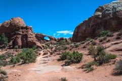Horizonboog in Bogen Nationaal Park, Utah Stock Foto