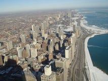 Horizonmening over Chicago Stock Afbeeldingen