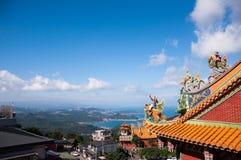 Horizonmening van de oude straat van Jiufen, Taiwan stock foto's