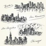 Horizons américains de villes illustration libre de droits