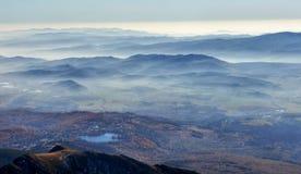 Horizons de montagne Images libres de droits
