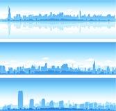 Horizons de New York City illustration de vecteur