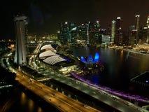 Horizons de Singapour Photographie stock