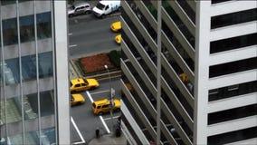 Horizons et affaires de New York City banque de vidéos